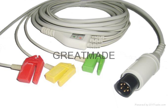 普通一體式直頭電纜及歐標夾式導聯線 1
