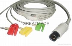 普通一体式直头电缆及欧标夹式导联线
