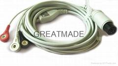 普通一体式直头电缆及三导美标扣式导联线