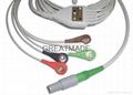 科瑞康一體式電纜五導美標扣式導