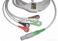 科瑞康一體式電纜五導美標扣式導聯線