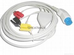 阿提瑪一體三導夾式導聯線