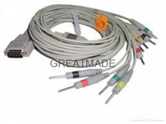 日本光電心電圖機電纜及導聯線 (DIN 3.0 )