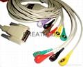 日本光電運動平板心電線,歐標,