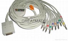 伯迪克心电图机电缆及导联线 (4.0 香蕉插 )
