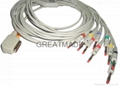 Kanz PC-109  EKG cable with leadwires