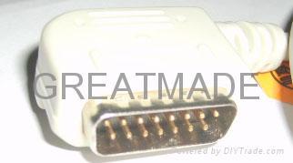 鈴謙PC-109心電圖機電纜及導聯線 (4.0 香蕉插 ) 2