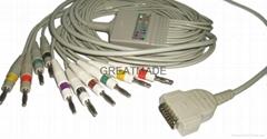 馬葵MAC500/MAC-1200心電圖機電纜及導聯線