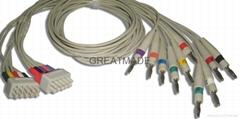 馬葵MAC500/MAC-1200心電圖機導聯線, 香蕉插