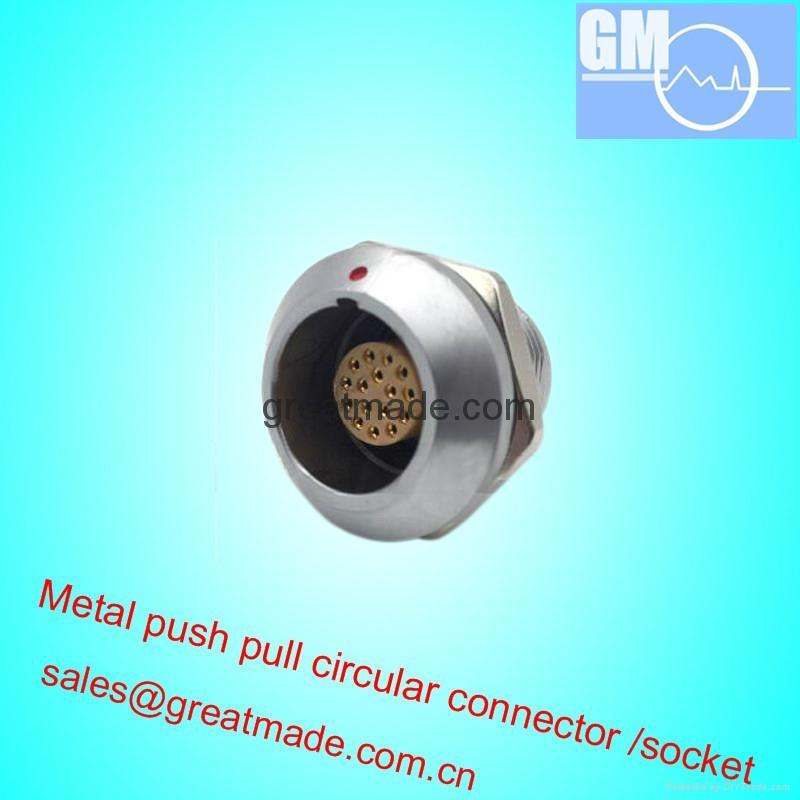 EGG 2K 16针推挽圆形金属直式插座