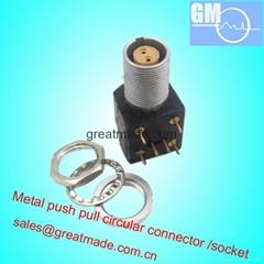 EXG 1B 0B 2針推挽圓形金屬直式插座