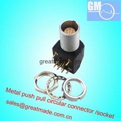 EXG 1B 0B 7針推拉式圓形金屬直式插座