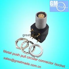 EXG 0B 1B 5針推挽圓形金屬直式插座