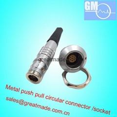 FGG / EGG 0K 7針推挽圓形金屬直插頭/固定插座