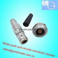 FGG / EGG 0K 5針推挽圓形金屬直插頭/固定插座