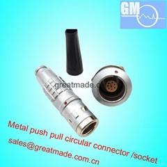 FGG / EGG 1K 308推拉式圓形金屬直插頭