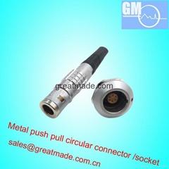 FGG EGG 0K 6針推挽圓形金屬直插頭/固定插座