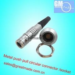 FGG EGG 0K 9針推挽圓形金屬直插頭/固定插座