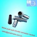 FHG 1B14针推拉式圆形金属弯头(90°)插头