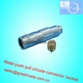 Push-pull circular metal straight socket 3pin
