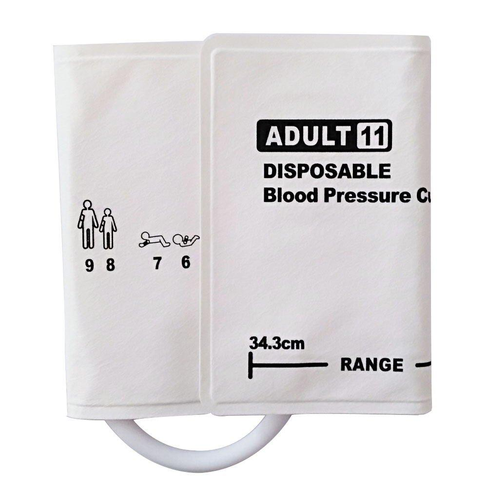 Adult#11 Diposable Nibp Cuff, 25.3-34.3cm Arm Circumference ,Single tube  1