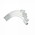 EKG cable electrodes adapter,use with 4.0 Banana shift to Grabber leadwires ,10p 2