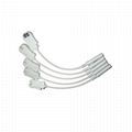 EKG cable electrodes adapter,use with 4.0 Banana shift to Grabber leadwires ,10p 3