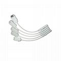 EKG 电缆电极适配器4.0香蕉转换夹式引线,10件/套