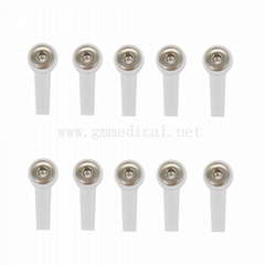 ECG EKG Snap/Grabber Electrode Adapter,use for 4.0 mm banana plug,10pcs/set.