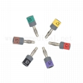 Connector sets, Banana 4.0mm , IEC, 10pcs/set .