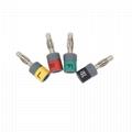 Connector sets, Banana 4.0mm , IEC, 10pcs/set .