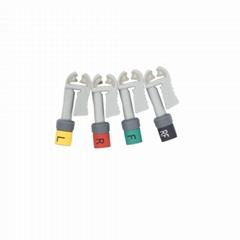 EKG 电缆连接器套件Grabber 美标 10件/套