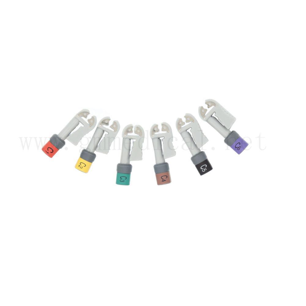 EKG 電纜連接器套件Grabber 美標 10件/套 2
