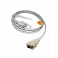 兼容Nellcor適配器電纜,14針公頭3M-> DB9F,L = 2.5M, 4
