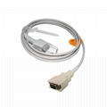 Adapter cable , 14PIN male 3M->DB9F,L=2.5M,Compatible with Nellcor