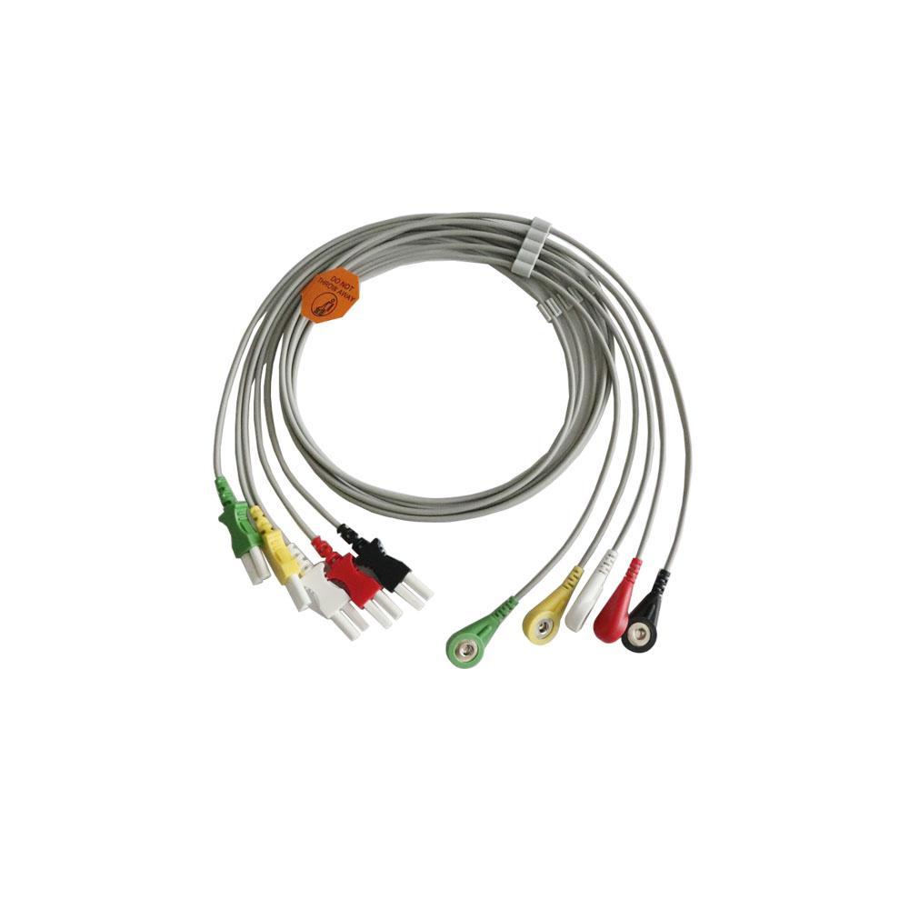 Tru-Link引線組,5引線,Snap / Grabber,IEC / AHA,24英吋和2PIN 1