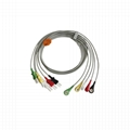 Tru-Link Leadwire sets , 5-Lead , Snap/Grabber , IEC/AHA, 24in & 2PIN