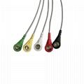 Tru-Link引線組,5引線,Snap / Grabber,IEC / AHA,24英吋和2PIN 2