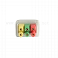 Compatible ECG leadwires cable 3-leads,IEC, Snap/Grabbe , for patient monitor, 3