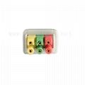 兼容ECG導線電纜3芯,IEC,按扣/拉線,用於病人監護儀