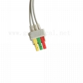 ECG leadwires cable 3-leads,IEC, Snap/Grabbe , for patient monitor, Compatible w