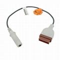 温度探头适配器电缆,与GE,电车,太阳能兼容,用于YSI400