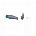 PAG 1P连接器插头,推拉式自锁圆形塑料连接器