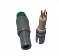 插头1P 1键控,带螺母1-10针,14针