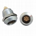 FGG /EGG 2K Push-pull circular metal straight plug/fixed socket 7pin