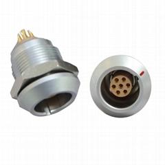 兼容FGG / EGG 2K 7针推挽圆形金属直插头/固定插座