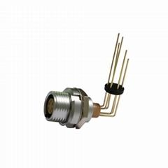 兼容ECG 0B 2针,弯头(alpha = 90)插座金属推挽连接器