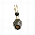 Compatible ECG 0B 2pins, Elbow (alpha=90) socket  metal push-pull connector