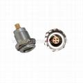 兼容FGG.EGG 00B,2,3,4,5针直插头/固定插座推拉式连接器