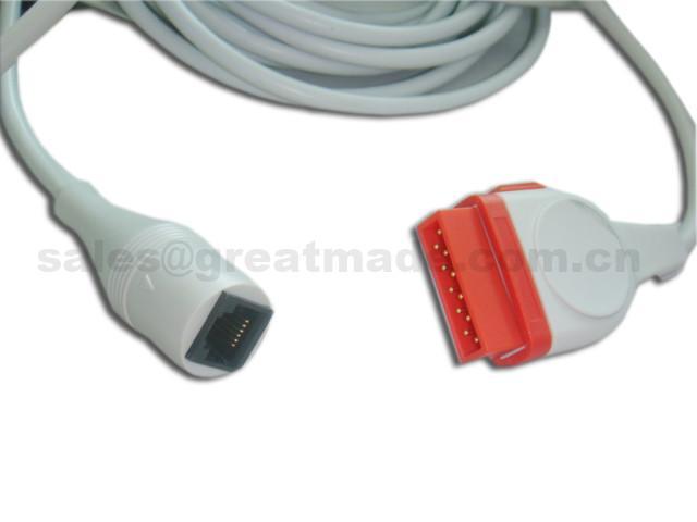 兼容 GE 雅培IBP適配器電纜 1
